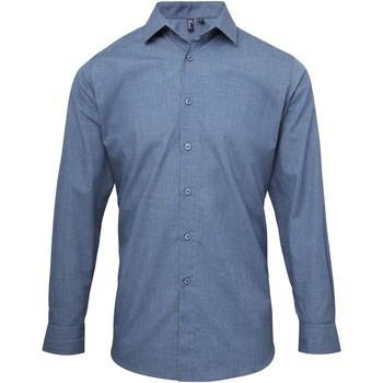 Abbigliamento Uomo Camicie maniche lunghe Premier PR217 Indaco