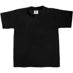 Abbigliamento Unisex bambino T-shirt maniche corte B And C TK301 Nero