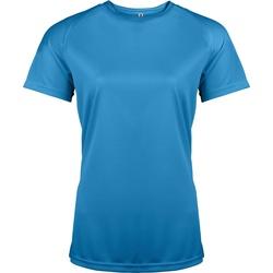Abbigliamento Donna T-shirt maniche corte Kariban Proact PA439 Blu acqua