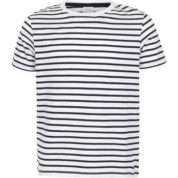 Abbigliamento Unisex bambino T-shirt maniche corte Skinni Fit SM202 Bianco/Blu scuro