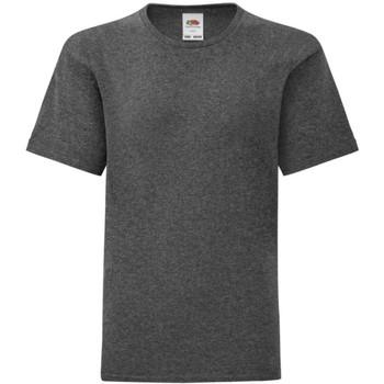 Abbigliamento Bambino T-shirt maniche corte Fruit Of The Loom 61023 Grigio scuro screziato