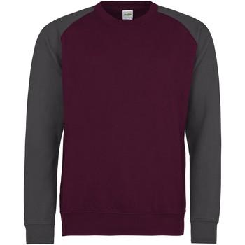Abbigliamento Uomo Felpe Awdis JH033 Bordeaux/Carbone