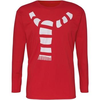 Abbigliamento Uomo T-shirts a maniche lunghe Christmas Shop CJ205 Rosso