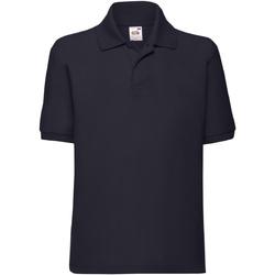 Abbigliamento Bambino Polo maniche corte Fruit Of The Loom 63417 Blu scuro