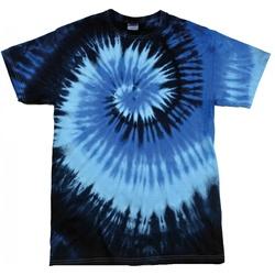 Abbigliamento Donna T-shirt maniche corte Colortone Rainbow Blu oceano