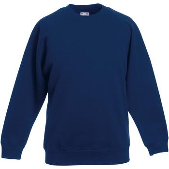 Abbigliamento Unisex bambino Felpe Fruit Of The Loom 62039 Blu navy