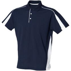 Abbigliamento Uomo Polo maniche corte Finden & Hales LV390 Blu navy/Bianco