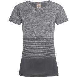 Abbigliamento Donna T-shirt maniche corte Stedman  Grigio chiaro
