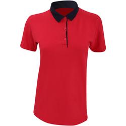 Abbigliamento Donna Polo maniche corte Anvil 6280L Rosso/Blu navy