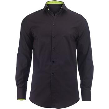 Abbigliamento Uomo Camicie maniche lunghe Alexandra Hospitality Nero/Lime