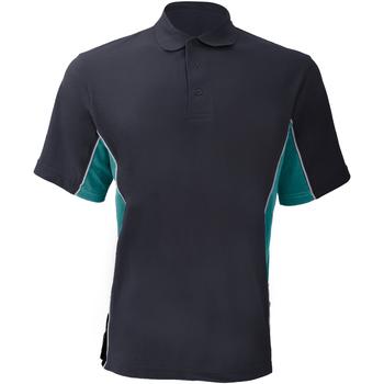 Abbigliamento Uomo Polo maniche corte Gamegear KK475 Blu navy/Turchese