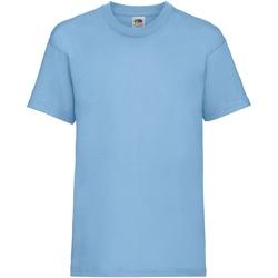 Abbigliamento Unisex bambino T-shirt maniche corte Fruit Of The Loom 61033 Azzurro cielo