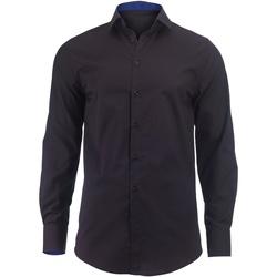 Abbigliamento Uomo Camicie maniche lunghe Alexandra Hospitality Nero/Blu reale