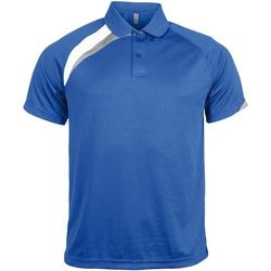 Abbigliamento Uomo Polo maniche corte Kariban Proact PA457 Blu Reale/Bianco/Grigio Tempes