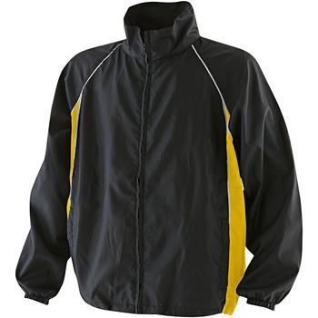Abbigliamento Uomo giacca a vento Finden & Hales LV610 Nero/Giallo/Bianco