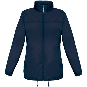 Abbigliamento Donna giacca a vento B And C JW902 Blu navy