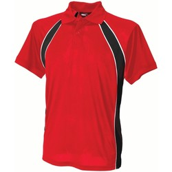 Abbigliamento Uomo Polo maniche corte Finden & Hales LV350 Rosso/Nero/Bianco
