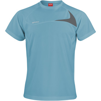 Abbigliamento Uomo T-shirt maniche corte Spiro S182M Verde acqua/Grigio