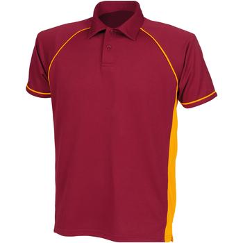 Abbigliamento Unisex bambino Polo maniche corte Finden & Hales LV372 Bordeaux/Ambra