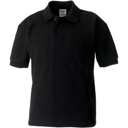 Abbigliamento Bambino Polo maniche corte Jerzees Schoolgear 65/35 Nero
