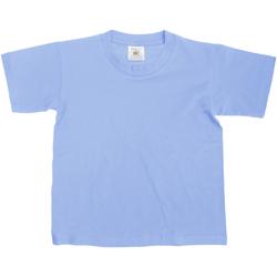 Abbigliamento Unisex bambino T-shirt maniche corte B And C TK300 Denim