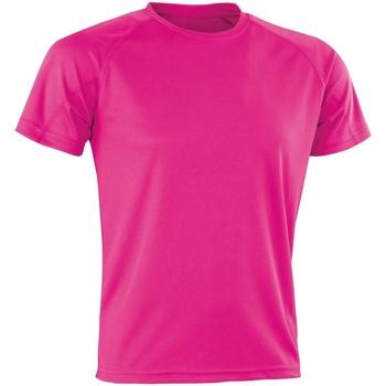 Abbigliamento T-shirt maniche corte Spiro Aircool Rosa fluo