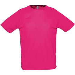 Abbigliamento Uomo T-shirt maniche corte Sols 11939 Rosa Neon