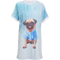 Abbigliamento Donna Pigiami / camicie da notte Christmas Shop CS043 Azzurro