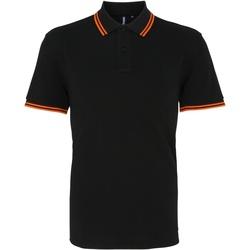 Abbigliamento Uomo Polo maniche corte Asquith & Fox AQ011 Nero/Arancione