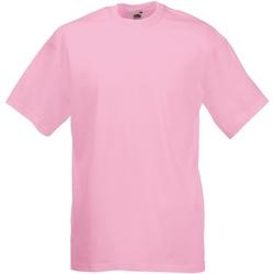 Abbigliamento Uomo T-shirt maniche corte Fruit Of The Loom 61036 Rosa chiaro