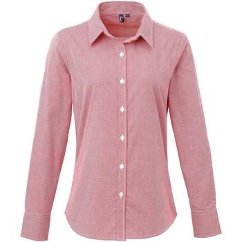 Abbigliamento Donna Camicie Premier PR320 Rosso/Bianco