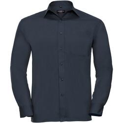 Abbigliamento Uomo Camicie maniche lunghe Russell 934M Navy francese