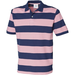 Abbigliamento Uomo Polo maniche corte Front Row FR210 Blu navy/Rosa