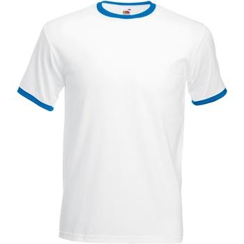 Abbigliamento Uomo T-shirt maniche corte Fruit Of The Loom 61168 Bianco/Blu reale