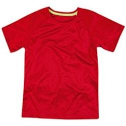 Abbigliamento Unisex bambino T-shirt maniche corte Stedman  Rosso cremisi