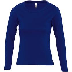 Abbigliamento Donna T-shirts a maniche lunghe Sols Majestic Blu ultramarino