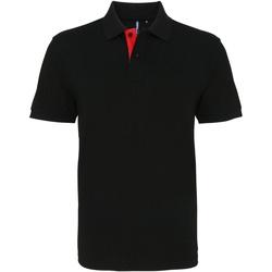 Abbigliamento Uomo Polo maniche corte Asquith & Fox AQ012 Nero/Rosso