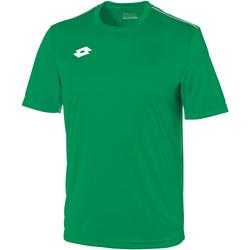 Abbigliamento Unisex bambino T-shirt maniche corte Lotto LT26B Verde/Bianco