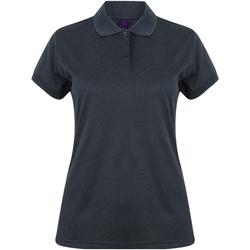 Abbigliamento Donna Polo maniche corte Henbury Coolplus Blu Navy Screziato