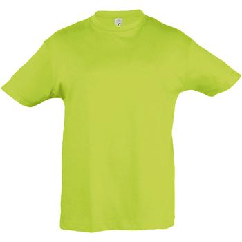 Abbigliamento Unisex bambino T-shirt maniche corte Sols 11970 Verde mela