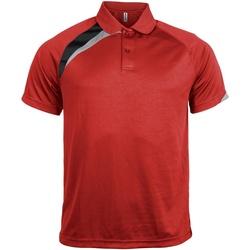 Abbigliamento Uomo Polo maniche corte Kariban Proact PA457 Rosso/Nero/Grigio Tempesta