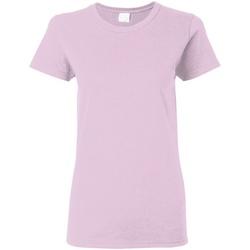 Abbigliamento Donna T-shirt maniche corte Gildan Missy Fit Rosa chiaro
