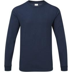 Abbigliamento Uomo T-shirts a maniche lunghe Gildan H400 Blu