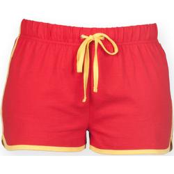 Abbigliamento Donna Shorts / Bermuda Skinni Fit SK069 Rosso/Giallo