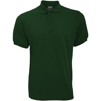 Abbigliamento Uomo Polo maniche corte B And C PU409 Verde bottiglia