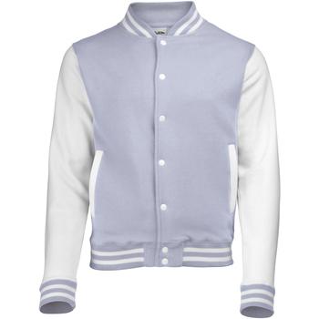 Abbigliamento Uomo Giubbotti Awdis JH043 Grigio screziato/Bianco