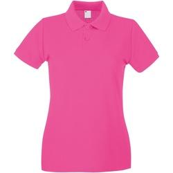 Abbigliamento Donna Polo maniche corte Universal Textiles 63030 Rosa acceso