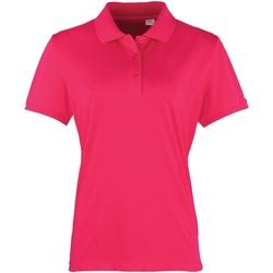 Abbigliamento Donna Polo maniche corte Premier PR616 Rosa acceso