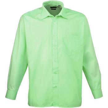 Abbigliamento Uomo Camicie maniche lunghe Premier PR200 Verde acqua