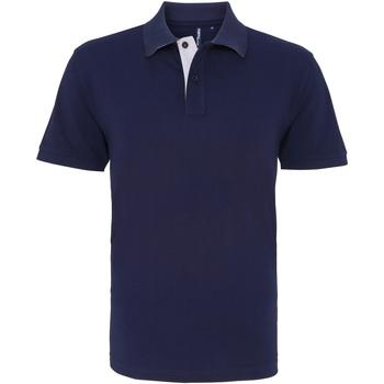 Abbigliamento Uomo Polo maniche corte Asquith & Fox AQ012 Blu Navy/Bianco
